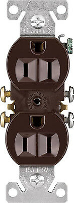 Cooper Wiring Devices 270B-SP-L Duplex Receptacle with 15-Amp, 125v, Brown