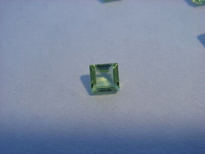 Peridot Princess Cut 3mm x 3mm Gemstone 0.10 Carats Natural Gem