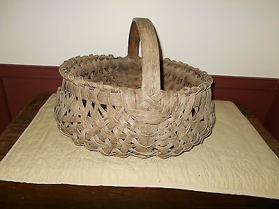 Wonderful Early Antique Primitive Extra Large Basket In Good Condition!!