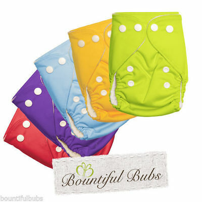 5 x Newborn Bamboo Nappies, 4 layer Bamboo Booster Insert