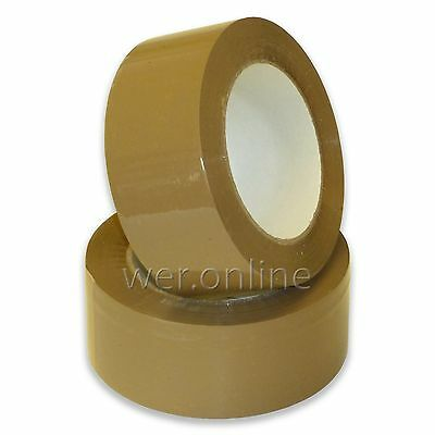48mm x 132M Buff Brown Hot Melt Adhesive Packaging Rolls of Parcel Tape
