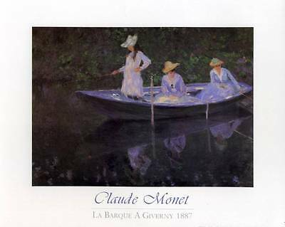 La Barque a Giverny 1887 by Claude Monet - 10x8 In. Art Print