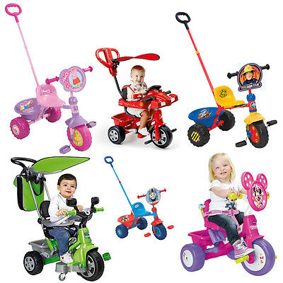 Choose from NEW Childrens Girls & Boys Trike with parent handle toddler Tricycle