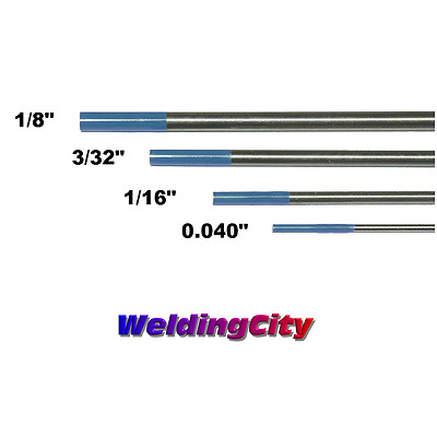 "4-pk TIG Welding Tungsten Electrode 2% Lanthanated Blue 040""-1/8"" US Seller Fast"