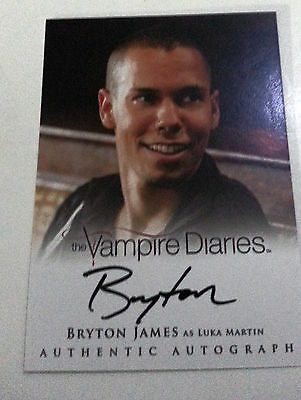 VAMPIRE DIARIES SEASON 2 AUTO/AUTOGRAPH CARD Bryton James as Luka Martin A16