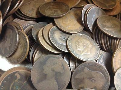 Bulk English Old Penny Coins  Choose How Many From 1860 To 1967