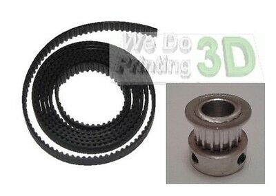 3D Printer T2.5 Timing Belts and 8mm Shaft Pulleys Ideal for Reprap Prusa Mendel