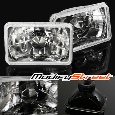 7x6 H6014/H6052/H6054 CRYSTAL GLASS LENS HEADLIGHTS LAMPS SEMI SEALED CONVERSION