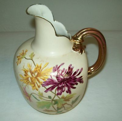 Beautiful  Worcester   Flat  Back   Pitcher   1800S - Very Early 1900's