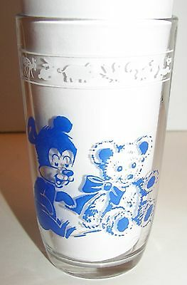Vintage Child's Juice Glass with Bears & Pigs Swanky Swig
