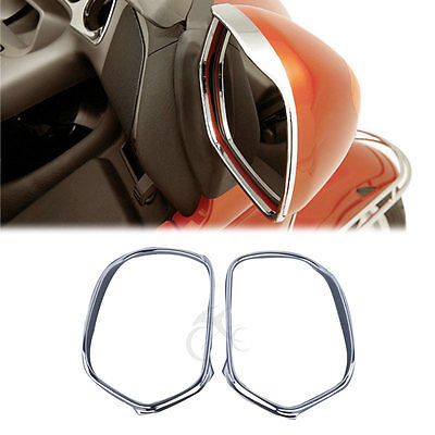 Chrome Mirrors Trim Decoration For Honda Goldwing GL1800 2001-2012 03 05 07 09