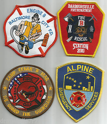 4 - New Fire Patches - Set # 223   fire patch