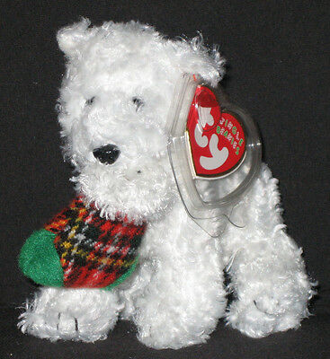 TY PRESENTS the DOG JINGLE BEANIE BABY - MINT with MINT TAGS