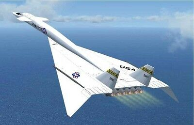 North American XB-70 Valkyrie Bomber Wood Model Replica Small Free Shipping