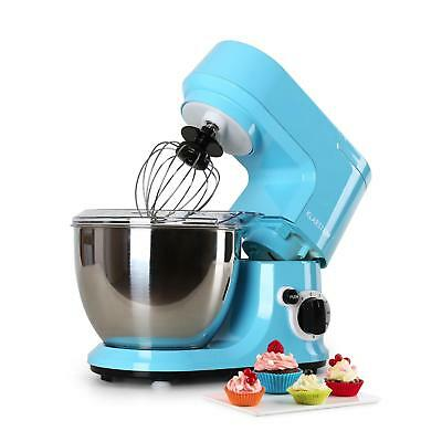 New 800W Blue 4L Food Processor Dough Hook Kitchen Stand Mixer Stainless Steel
