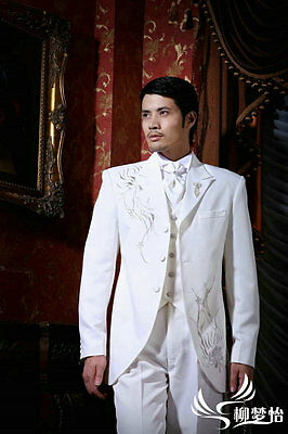 Embroidered Wedding Suits Men Bridal Suit Groom Tuxedos Formal Business Suits
