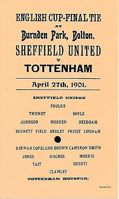 FA CUP FINAL REPLAY 1901 Sheffield United v Spurs