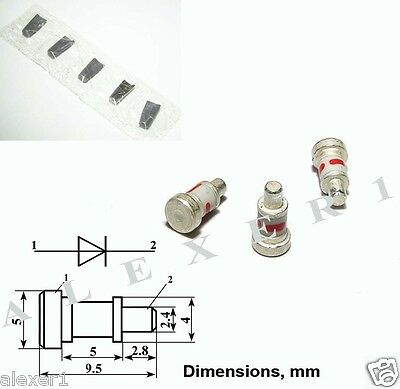 4x  1A403D Military Ge Varactor Diode, 2GHz