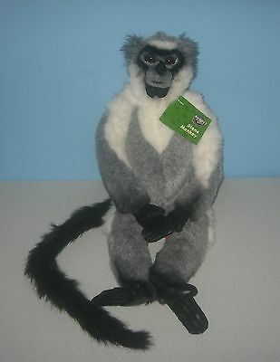 """New 2001 Diana Monkey Wildlife Discovery Channel Collection 22"""" Stuffed Plush"""
