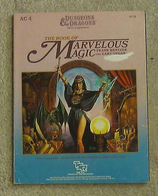 dungeons & dragons Marvelous Magic  book