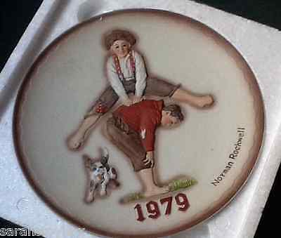 1979 NORMAN ROCKWELL LEAP FROG PLATE