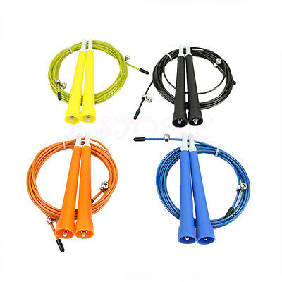 Original Ultra Speed Cable Wire Adjustable Skipping Skip Jump Rope Crossfit
