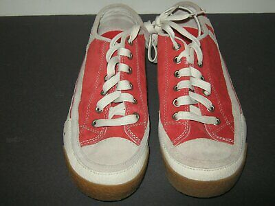 """Nice"" Shoes Red Suede Rubber Sole Skater Shoes Mens Size 8"