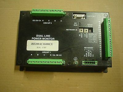 Horner dual line power monitor HE200ACM400C HE200ACM400CX 60 day warranty - used