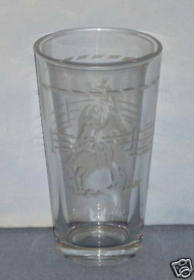 Large Etched Drinking Glass - RODEO RIDER - Nice!