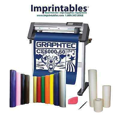 GRAPHTEC Vinyl Cutter CE6000-60 w/Stand and BONUS Sign Vinyl