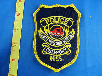 GULFPORT MISSISSIPPI POLICE  CLOTH PATCH  Embroidered - Estate
