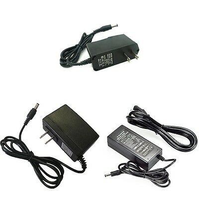 12V 5A 2A 1A 0.5A 5.5mm 2.5mm 2.1mm AC DC Power Supply Adapter lots wholesale
