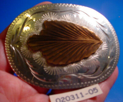 AWESOME Old Bar J ARROWHEAD Hand Engvd Silver Bow Hunter Belt Buckle MAKE OFFER