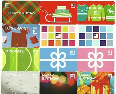 JC Penney Lot of (12) Gift Cards No $ Value Collectible w/ New Christmas Holiday
