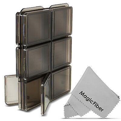 Memory Card Storage Case Holder with 12 Slots for SD SDHC MMC MicroSD Cards
