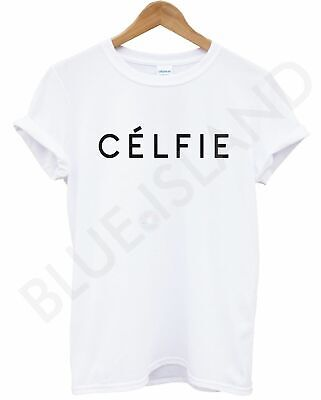 Celfie T Shirt White  Vogue Top Unisex Women Men Swag Dope Hipster Alone