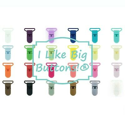 1 INCH - KAM Plastic Clips/ Suspender Clip Soother/Pacifier/Paci/Toy Holder