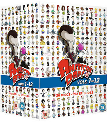 ❏ American Dad Series 1 - 8 DVD Complete Seasons Collection Set  ❏ 1 2 3 4 5 6 7