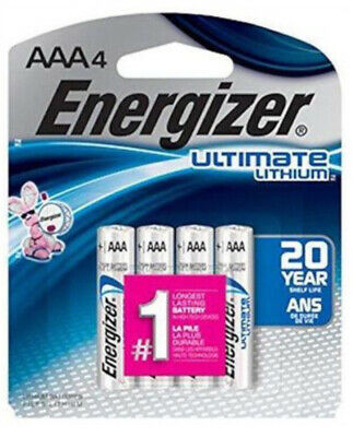 4 FRESH Energizer AAA L92BP Ultimate Lithium Batteries, Retail Packing  EXP 2038
