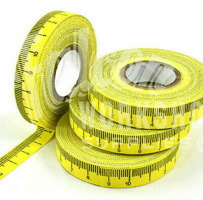 SELF ADHESIVE TAPE MEASURE - 1cm INCREMENTS - 10m ROLL - L to R - 10cm REPEAT