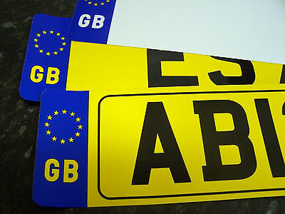 Car Number Plate Front Or Rear Gb Registration  Free Post Free Adhesive Fixings