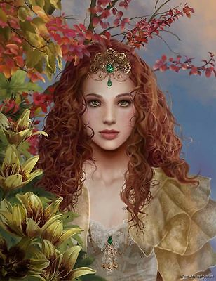 Nene Thomas Fairy Limited Edition Print Powerborn Princess Chesare Red Head New