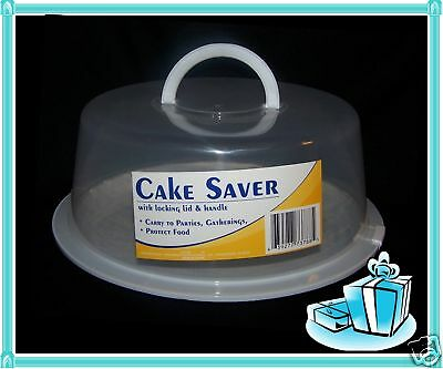 3 Cake Pie Pastry Food Storage Saver Carrier with Locking Lid & Folding Handle