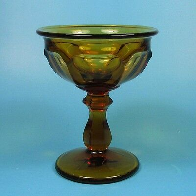 Imperial Glass OLD WILLIAMSBURG AMBER Tall Sherbet Champagne Glass (s)