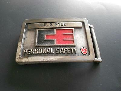 Vintage CE Personal Safety 1 Year Belt Buckle E. D. Kyle