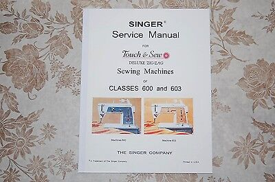 Singer Authorized Service Manual on CD for Classes  600 and 603 Sewing Machines.