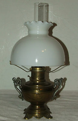 Antique 1800's The Rochester Brass GWTW Ornate Victorian Oil Lamp Banquet Lamp
