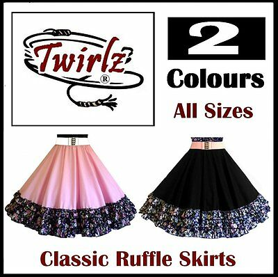 Square Dance Full Circle Skirt / Ruffles for Square, Latin, Country Line Dancing