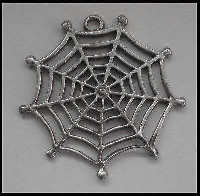 PEWTER CHARM #116 COBWEB 30mm x 30mm spider's web