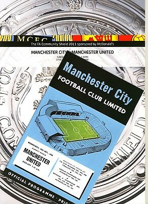 FA COMMUNITY SHIELD 2011 Manchester City v Manchester United with FREE gift!